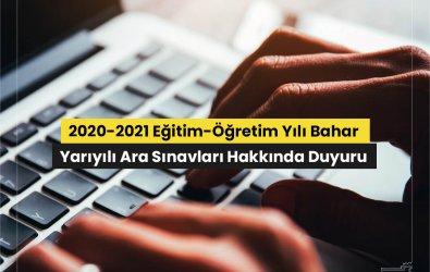 AUZEF 2021 Bahar Dönemi Arasınavları Çevrimiçi Olacak